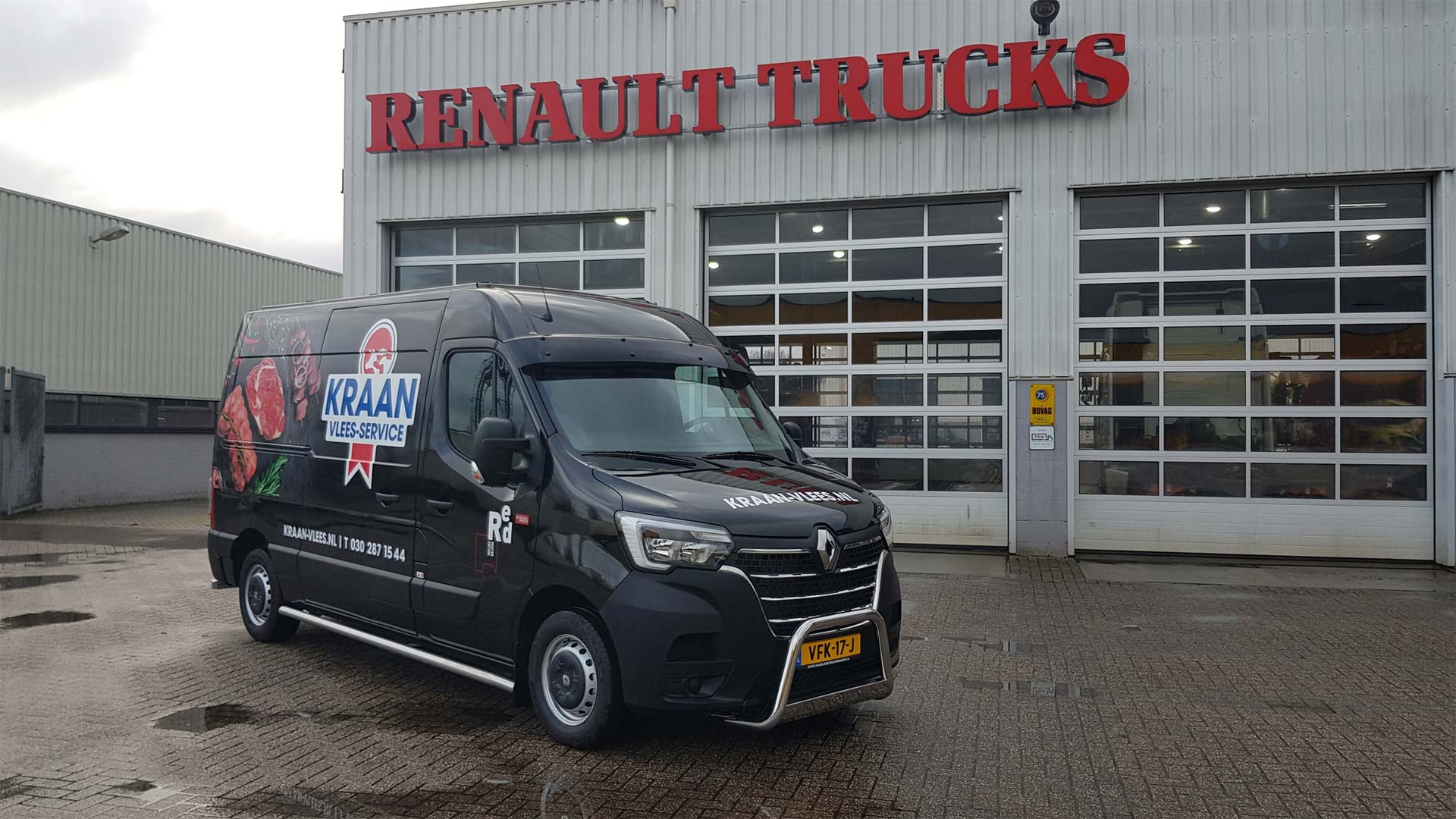 Kraan Renault Master Bedrijfswagen Aflevering