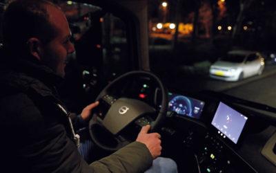 Eerste kilometers in de nieuwe Volvo FH voor Geert Langerak