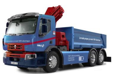 Renault Trucks produceert eerste volledig elektrische vrachtwagen voor werf toelevering door Noblet Groep