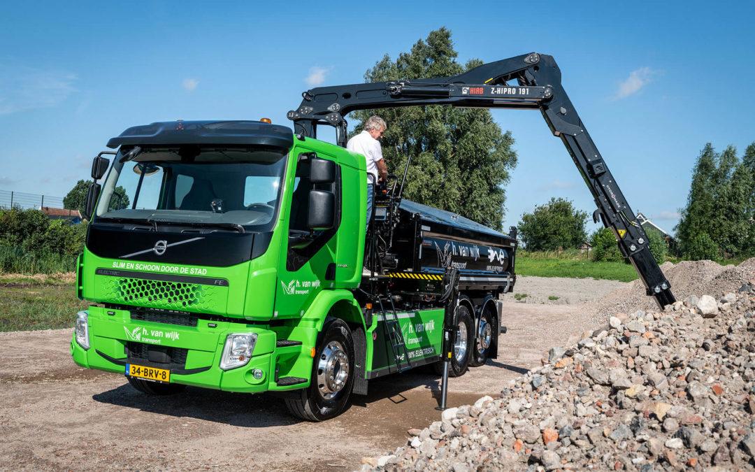 H. van Wijk Transport zet Volvo FE Electric in voor infraprojecten in Amsterdam